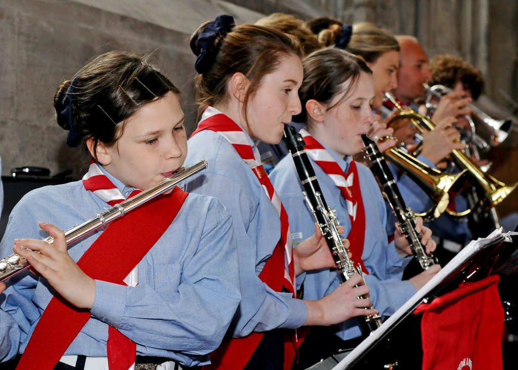 The band playing at Guildhall, City of London